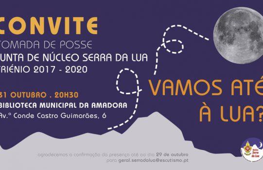 CONVITE TOMADA DE POSSE – JUNTA DE NÚCLEO SERRA DA LUA – 31 OUT