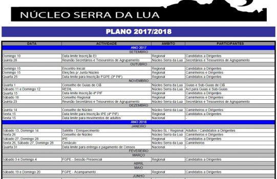 PLANO DE ACTIVIDADES 2017/2018